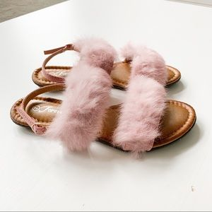 Forever Pink Fuzzy Sandal